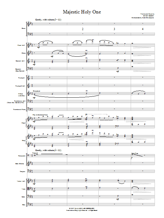 Cindy Berry Majestic Holy One - Full Score sheet music notes and chords. Download Printable PDF.