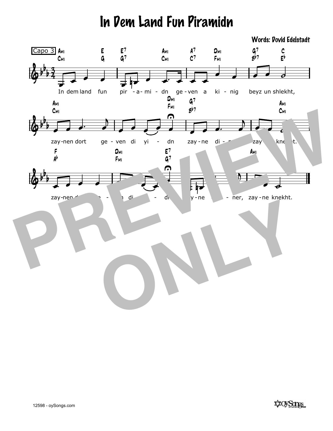 Cindy Paley In Dem Land Fun Piramidn sheet music notes and chords. Download Printable PDF.