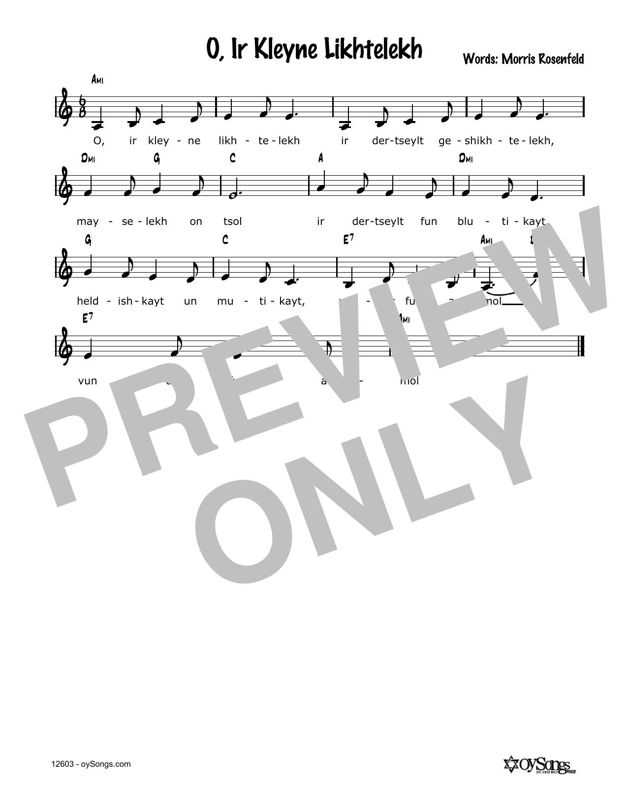 Cindy Paley O, Ir Kleine Lichtelech sheet music notes and chords. Download Printable PDF.