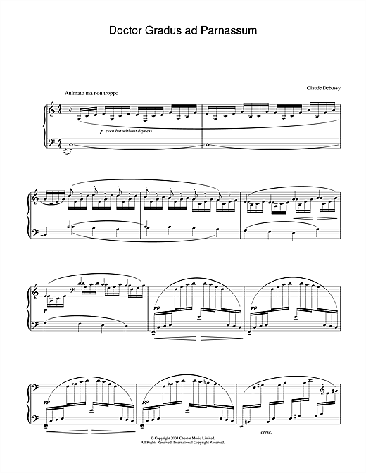 Claude Debussy Doctor Gradus ad Parnassum sheet music notes and chords. Download Printable PDF.