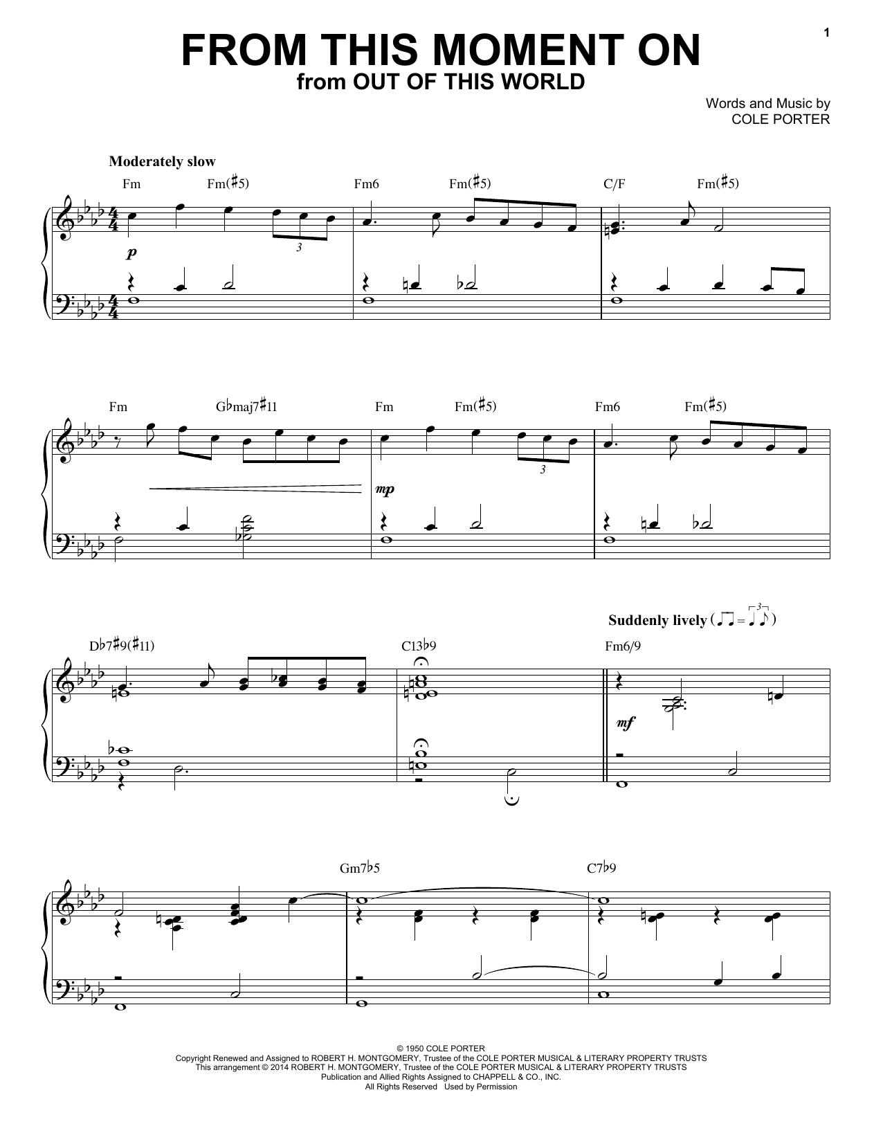 Cole Porter From This Moment On [Jazz version] (from Kiss Me, Kate) (arr. Brent Edstrom) sheet music notes and chords. Download Printable PDF.