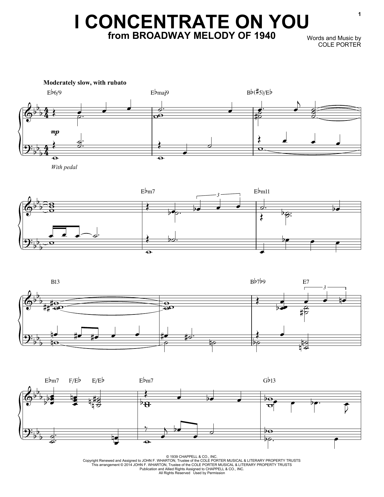 Cole Porter I Concentrate On You [Jazz version] (arr. Brent Edstrom) sheet music notes and chords. Download Printable PDF.