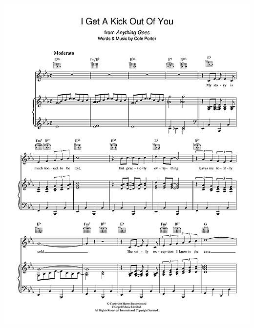 Cole Porter I Get A Kick Out Of You sheet music notes and chords
