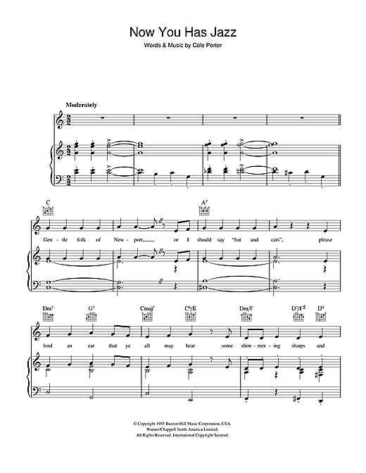 Cole Porter Now You Has Jazz sheet music notes and chords