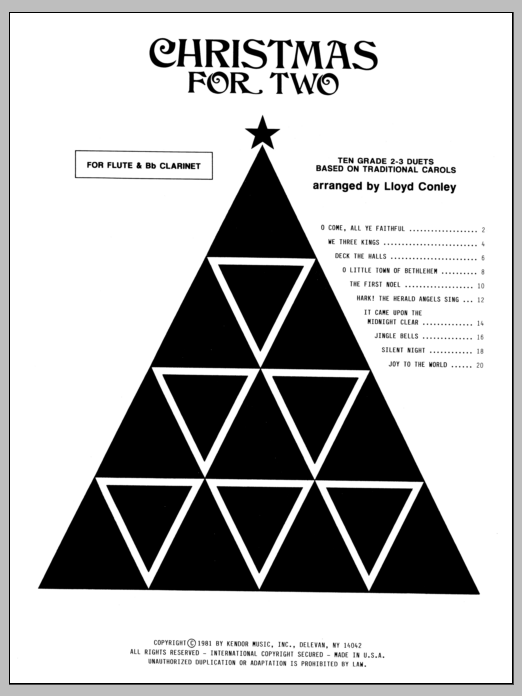 Conley Christmas for Two sheet music notes and chords. Download Printable PDF.