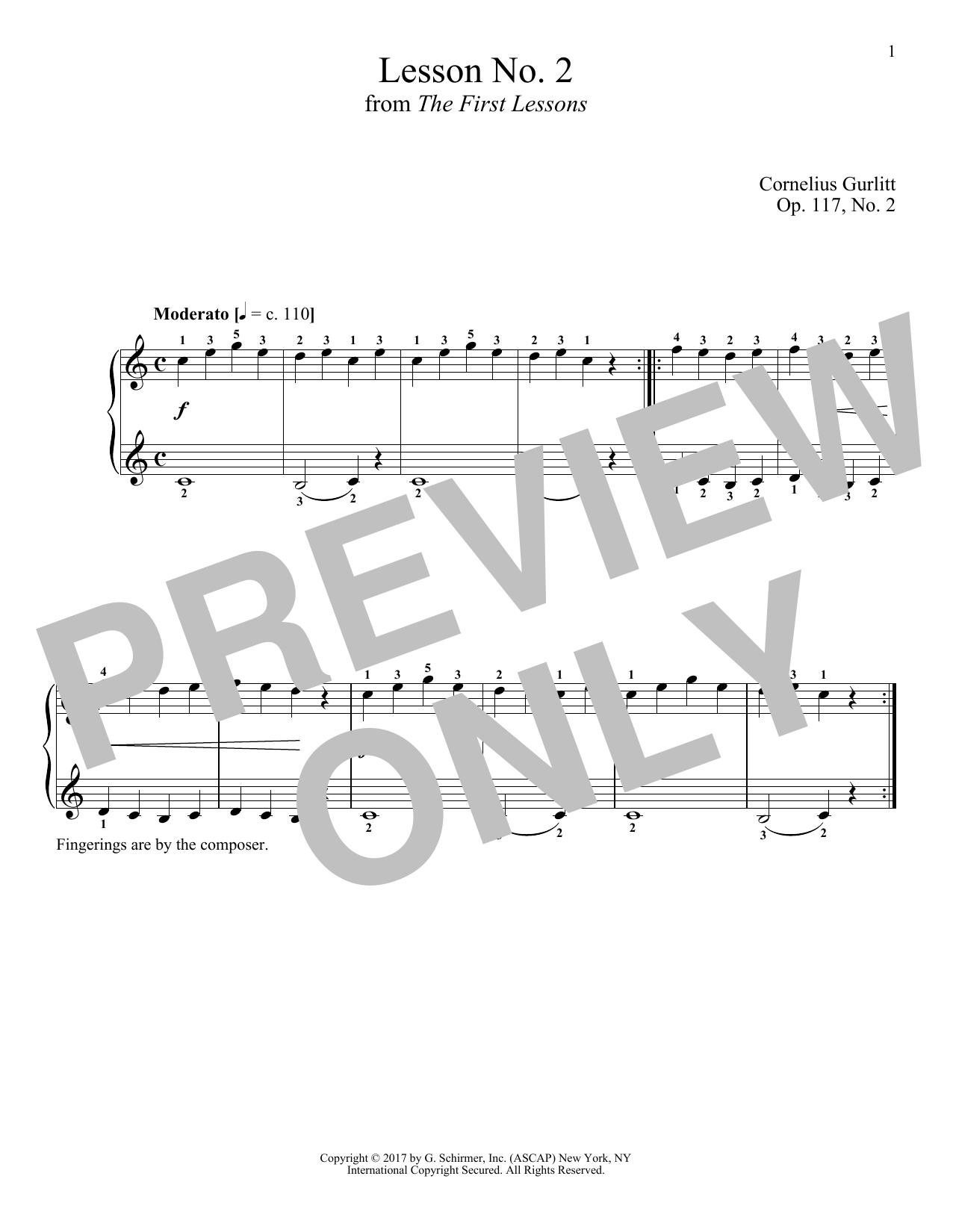 Cornelius Gurlitt Moderato, Op. 117, No. 2 sheet music notes and chords. Download Printable PDF.