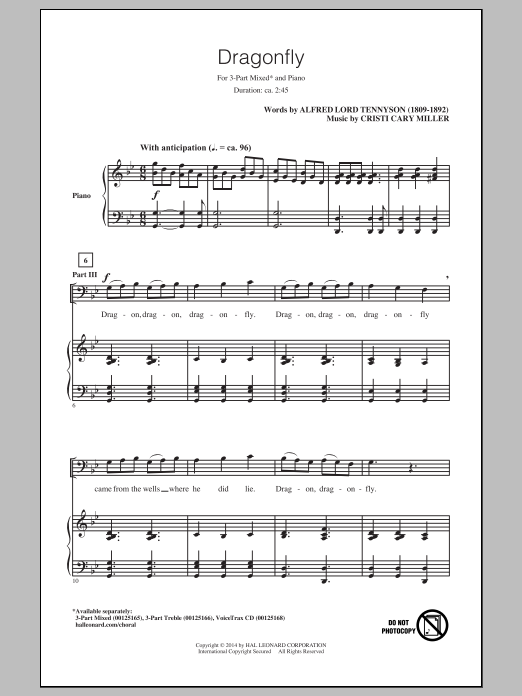Cristi Cary Miller Dragonfly sheet music notes and chords. Download Printable PDF.