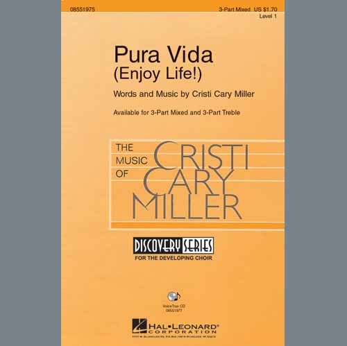 Easily Download Cristi Cary Miller Printable PDF piano music notes, guitar tabs for 3-Part Mixed Choir. Transpose or transcribe this score in no time - Learn how to play song progression.