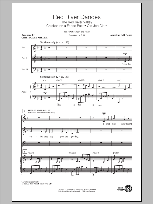 Cristi Cary Miller Red River Dances sheet music notes and chords. Download Printable PDF.