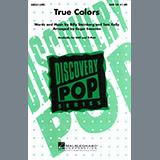 Download Cyndi Lauper 'True Colors (arr. Roger Emerson)' Printable PDF 7-page score for Pop / arranged SAB Choir SKU: 411724.
