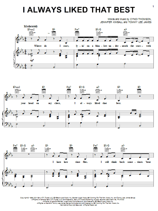 Cyndi Thomson I Always Liked That Best sheet music notes and chords. Download Printable PDF.
