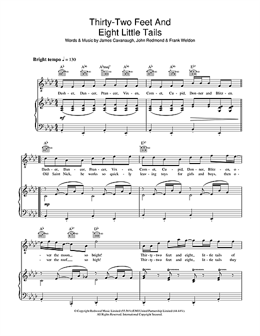 Dale Evans Thirty-Two Feet And Eight Little Tails sheet music notes and chords. Download Printable PDF.