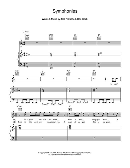Dan Black Symphonies sheet music notes and chords. Download Printable PDF.