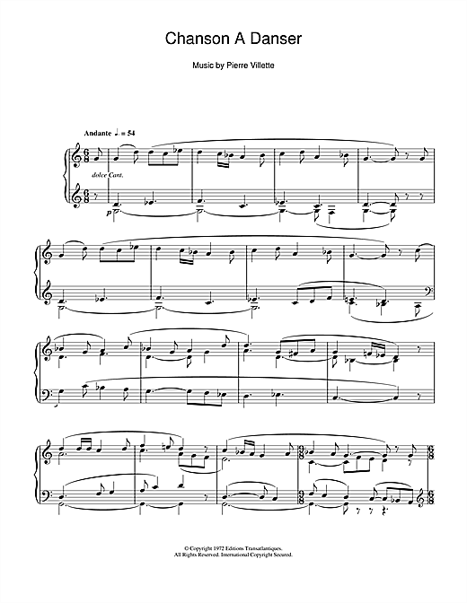 Daniel-Lesur Chanson A Danser sheet music notes and chords. Download Printable PDF.