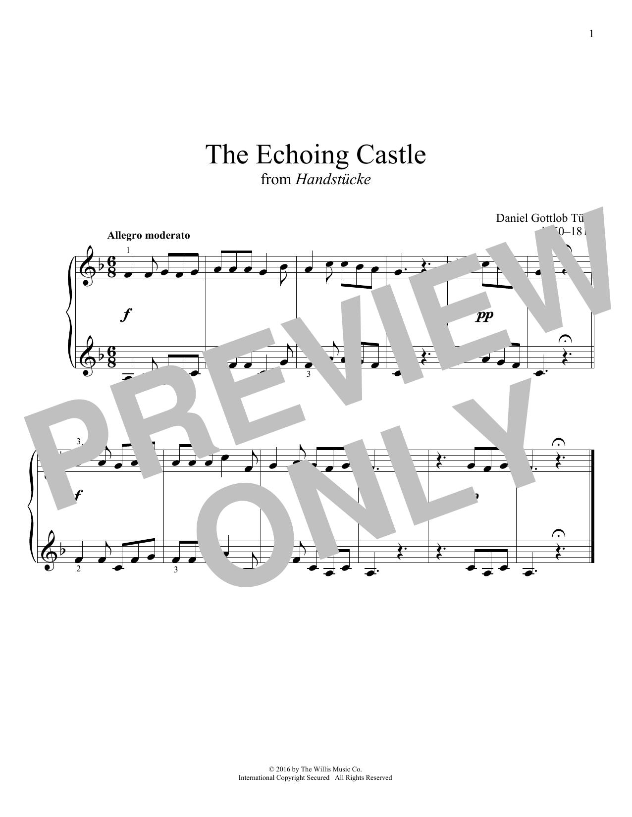 Daniel Gottlob Türk The Echoing Castle sheet music notes and chords. Download Printable PDF.