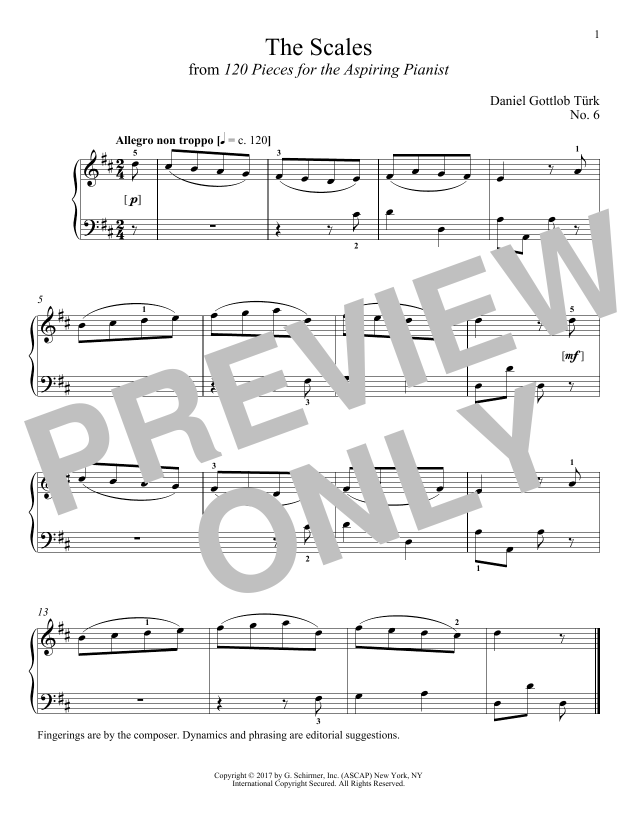 Daniel Gottlob Turk The Scales sheet music notes and chords