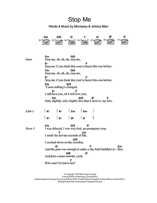 Daniel Merriweather Stop Me If You Think You've Heard This One Before sheet music notes and chords. Download Printable PDF.