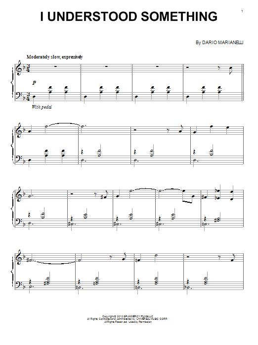 Dario Marianelli I Understood Something sheet music notes and chords
