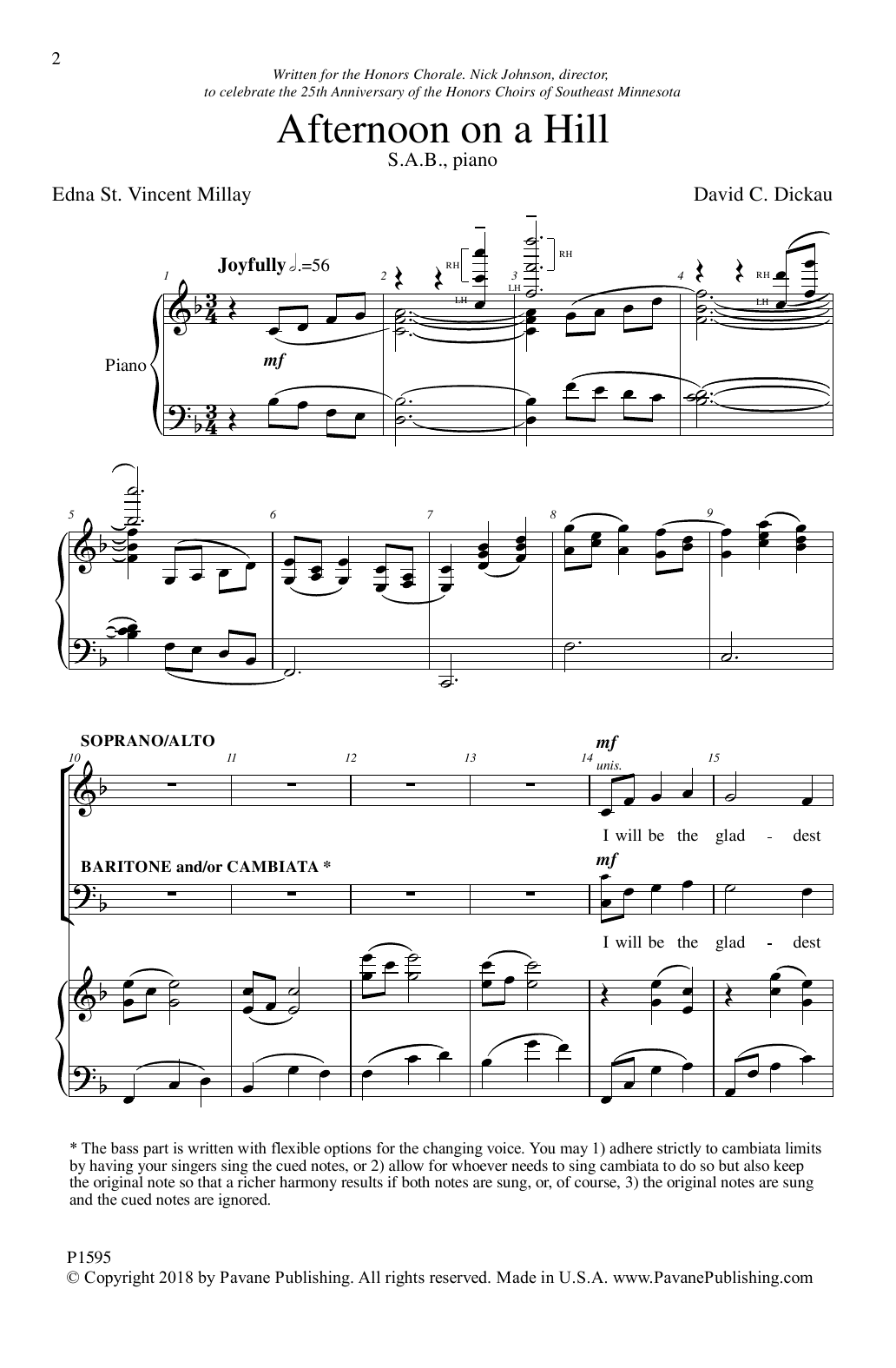 David Dickau Afternoon On A Hill sheet music notes and chords. Download Printable PDF.