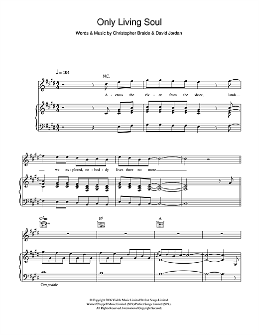 David Jordan Only Living Soul sheet music notes and chords. Download Printable PDF.