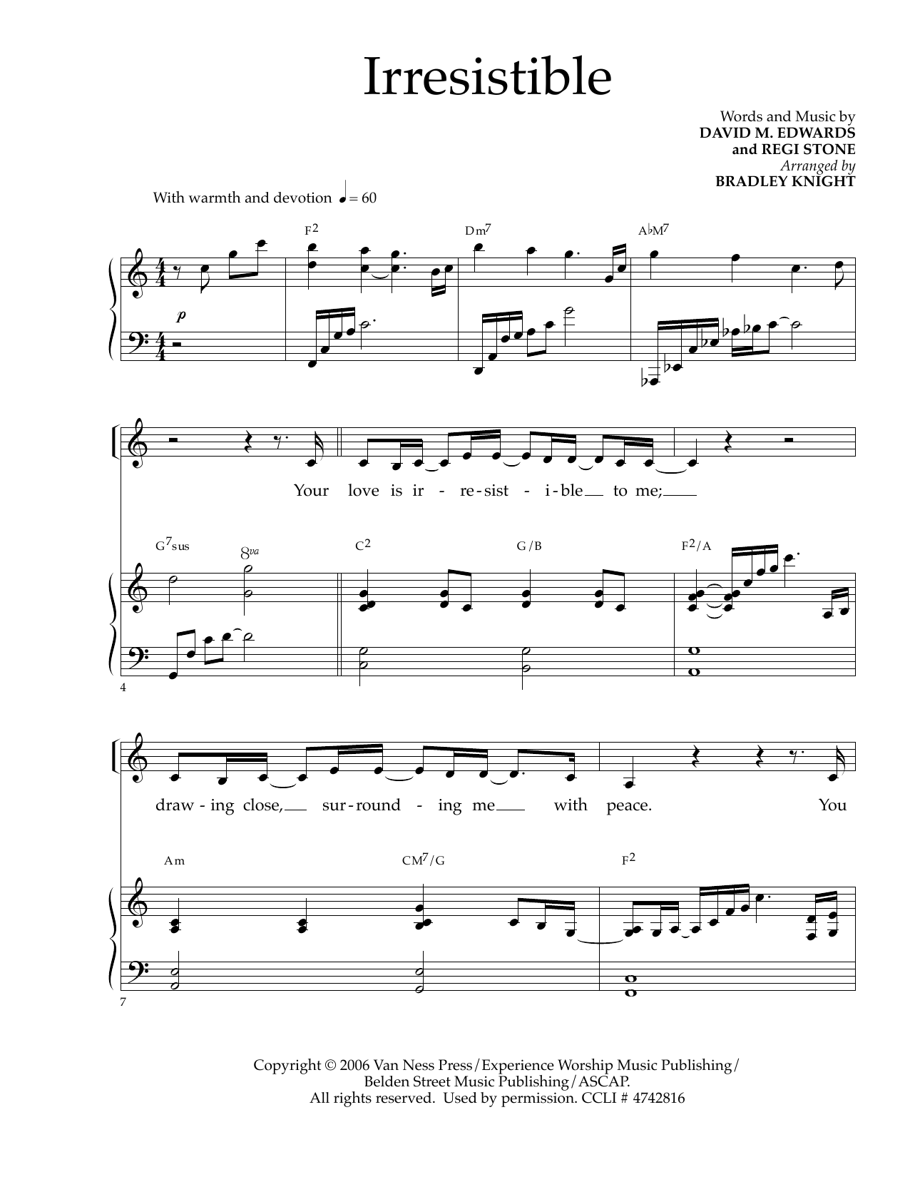 David M. Edwards and Regi Stone Irresistible (arr. Bradley Knight) sheet music notes and chords. Download Printable PDF.