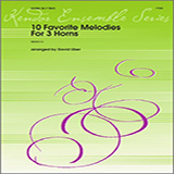 Download David Uber '10 Favorite Melodies For 3 Horns - 3rd Horn in F' Printable PDF 5-page score for Classical / arranged Brass Ensemble SKU: 340995.