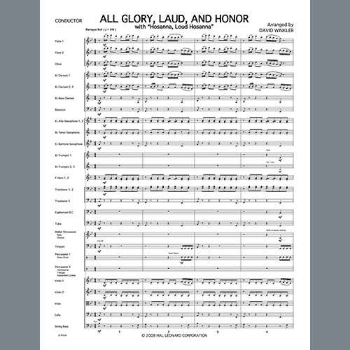 Easily Download David Winkler Printable PDF piano music notes, guitar tabs for Full Orchestra. Transpose or transcribe this score in no time - Learn how to play song progression.