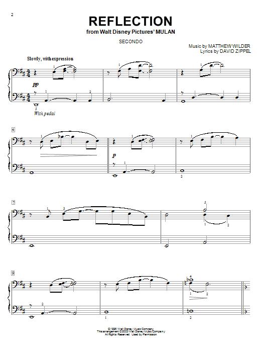 David Zippel Reflection (from Mulan) sheet music notes and chords. Download Printable PDF.