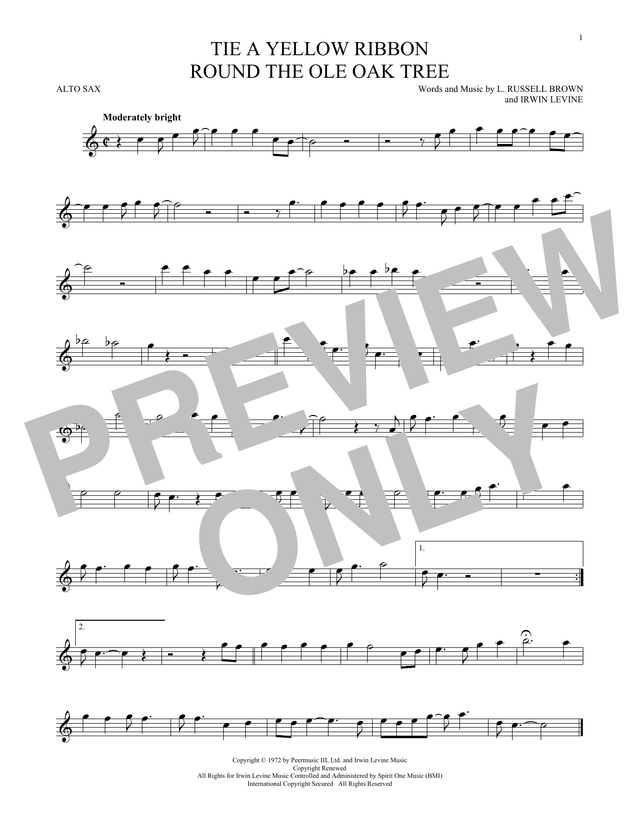 Dawn featuring Tony Orlando Tie A Yellow Ribbon Round The Ole Oak Tree sheet music notes and chords. Download Printable PDF.