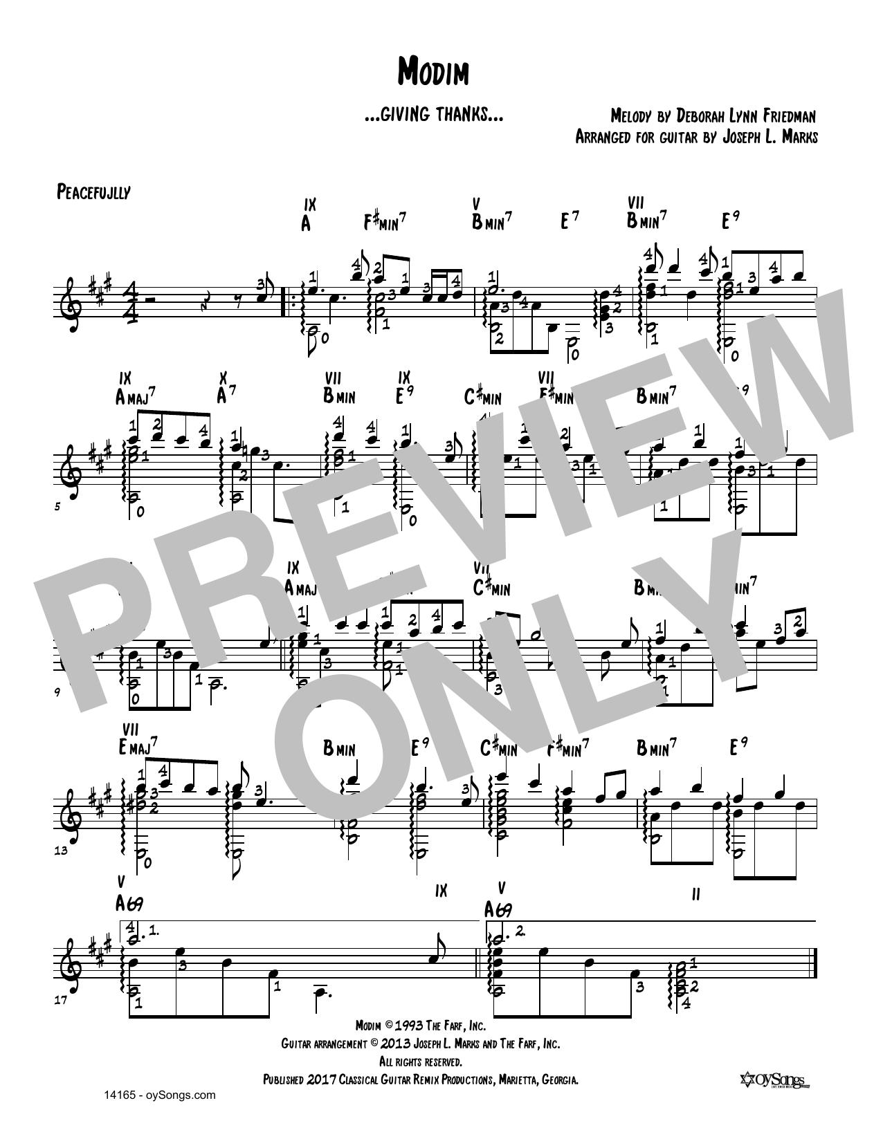Debbie Friedman Modim (arr. Joe Marks) sheet music notes and chords. Download Printable PDF.
