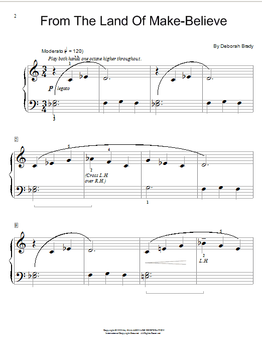 Deborah Brady From The Land Of Make-Believe sheet music notes and chords. Download Printable PDF.