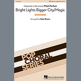 Download or print Deke Sharon Bright Lights Bigger City/Magic Sheet Music Printable PDF 5-page score for A Cappella / arranged TTBB Choir SKU: 98692.