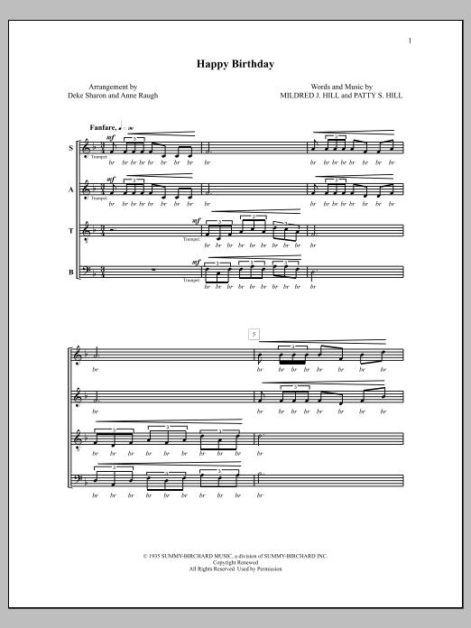 Deke Sharon Happy Birthday sheet music notes and chords. Download Printable PDF.
