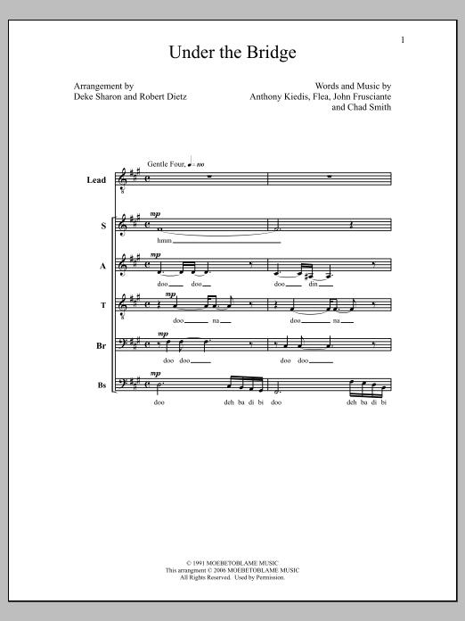 Deke Sharon Under The Bridge sheet music notes and chords. Download Printable PDF.