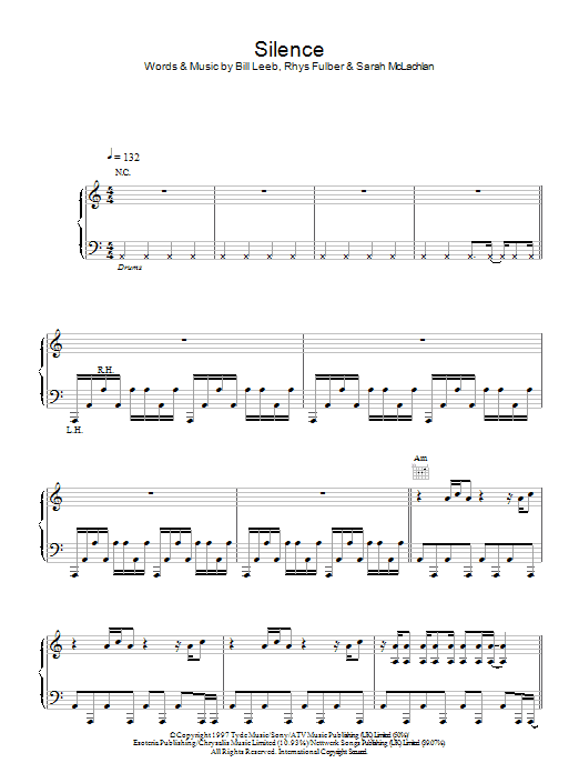 Delerium Silence sheet music notes and chords. Download Printable PDF.