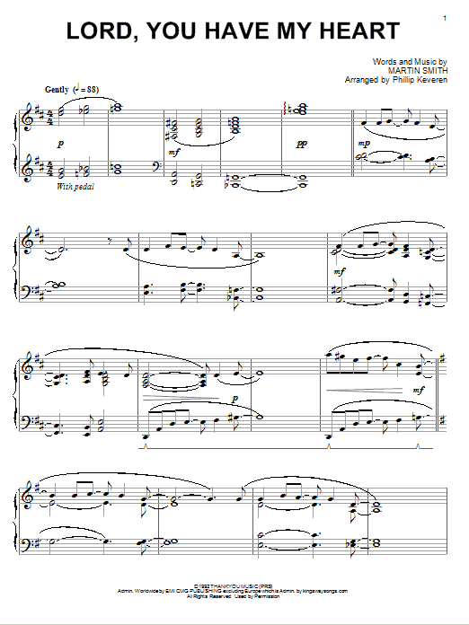 Delirious? Lord, You Have My Heart [Jazz version] (arr. Phillip Keveren) sheet music notes and chords. Download Printable PDF.