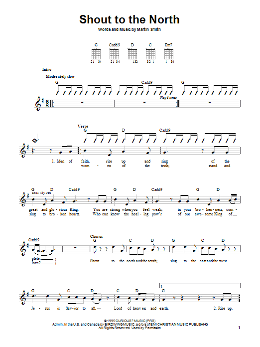 Delirious? Shout To The North sheet music notes and chords. Download Printable PDF.