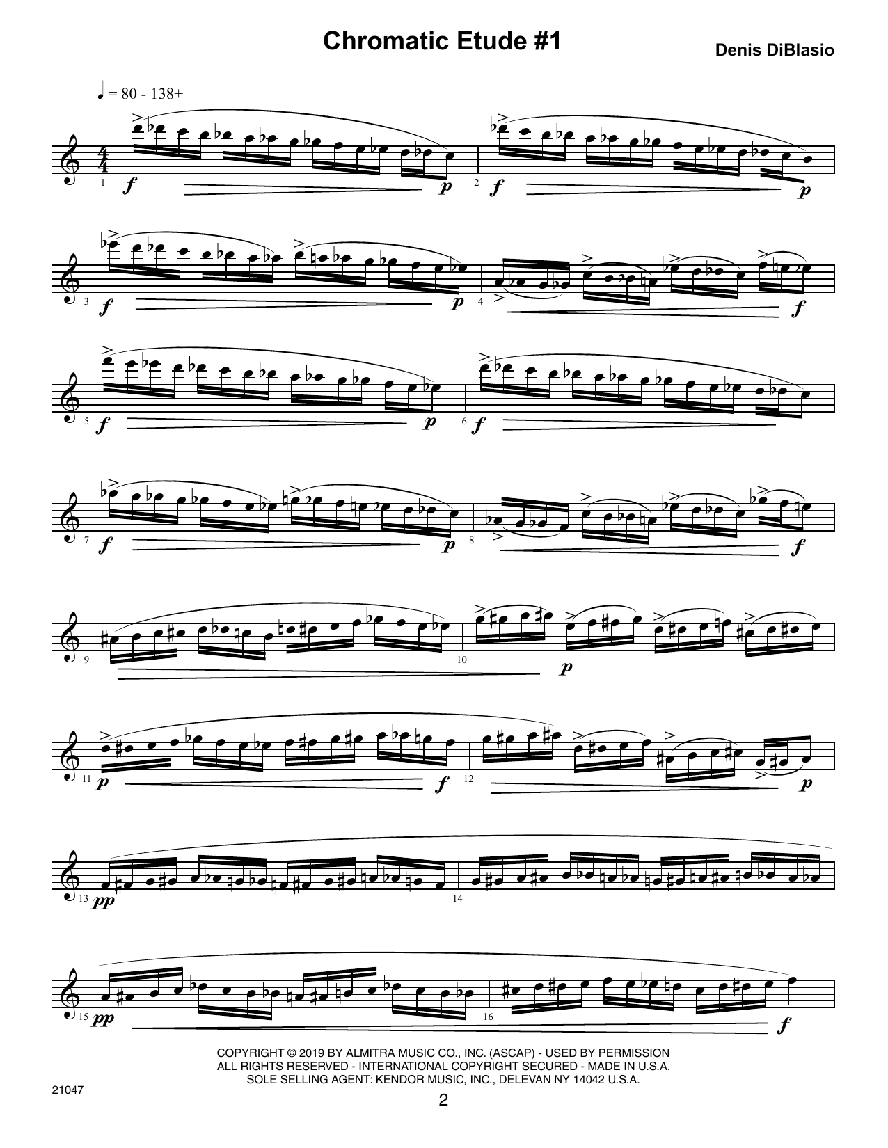 Denis DiBlasio Chromatic Etudes And Sound Patterns For Saxophone sheet music notes and chords. Download Printable PDF.