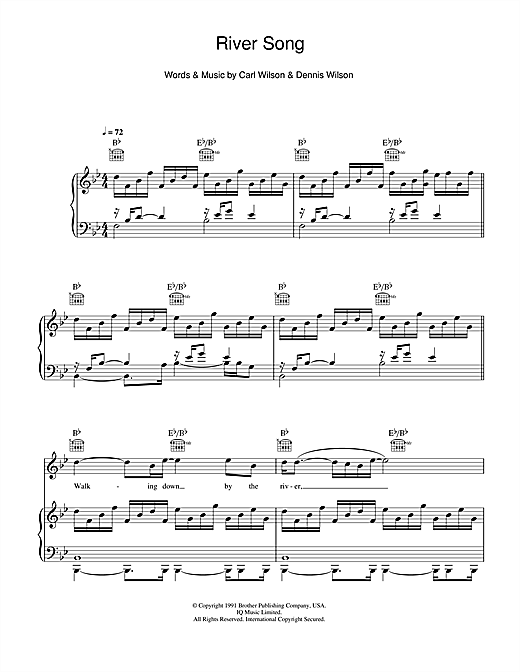 Dennis Wilson River Song sheet music notes and chords. Download Printable PDF.