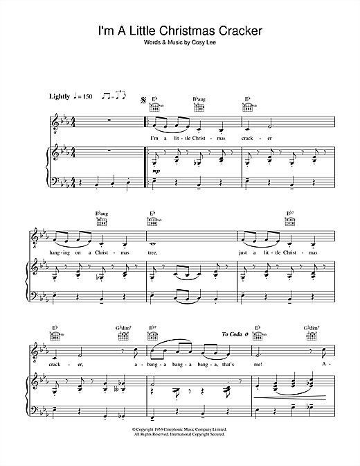 Diana Decker I'm A Little Christmas Cracker sheet music notes and chords. Download Printable PDF.