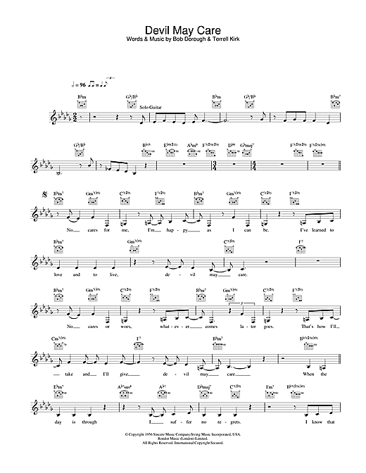 Diana Krall Devil May Care sheet music notes and chords. Download Printable PDF.