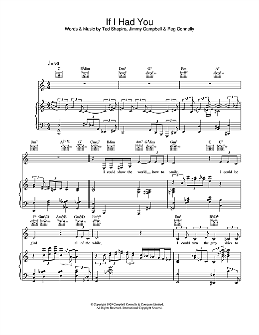 Diana Krall If I Had You sheet music notes and chords