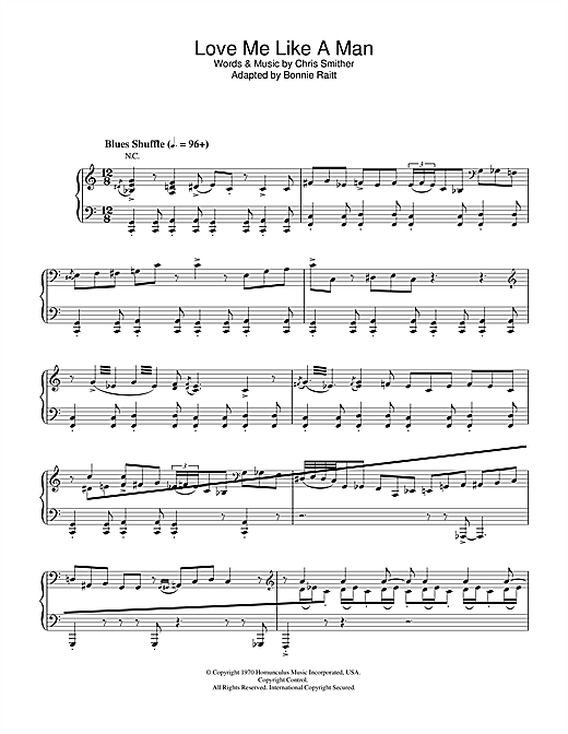 Diana Krall Love Me Like A Man sheet music notes and chords. Download Printable PDF.