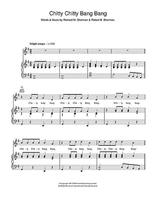 Dick Van Dyke Chitty Chitty Bang Bang sheet music notes and chords. Download Printable PDF.