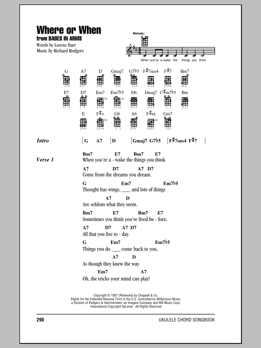Dion & The Belmonts Where Or When sheet music notes and chords. Download Printable PDF.