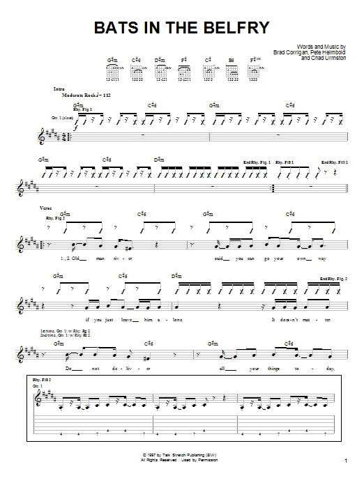 Dispatch Bats In The Belfry sheet music notes and chords. Download Printable PDF.
