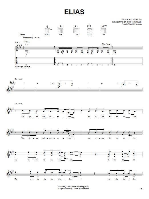 Dispatch Elias sheet music notes and chords. Download Printable PDF.