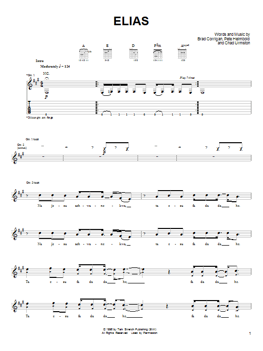 Dispatch Elias sheet music notes and chords. Download Printable PDF.