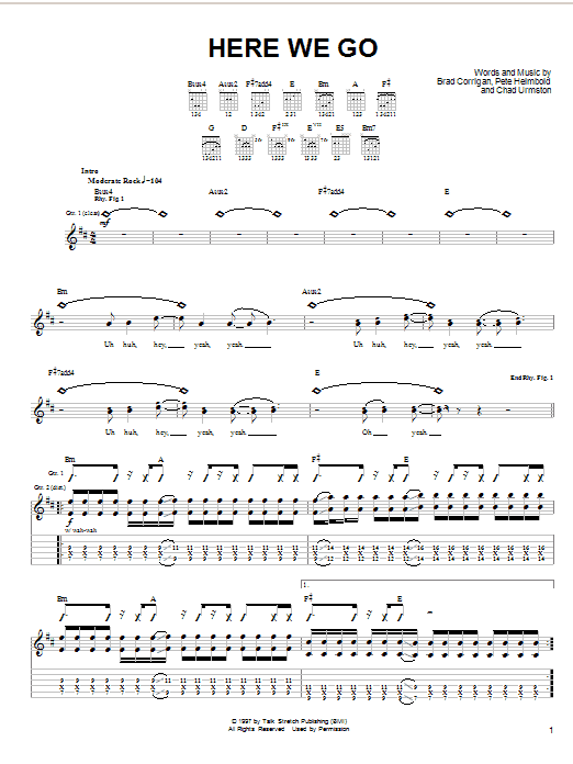 Dispatch Here We Go sheet music notes and chords