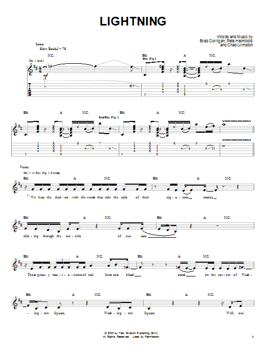 Dispatch Lightning sheet music notes and chords. Download Printable PDF.